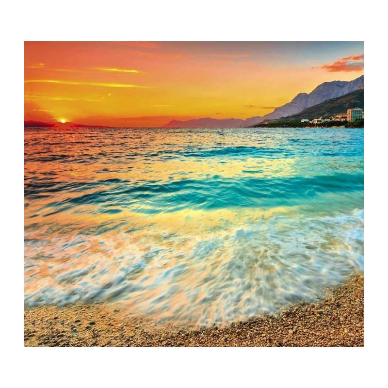 Grand tableau d co coucher de soleil sur la mer adriatique for Tableau sur la mer