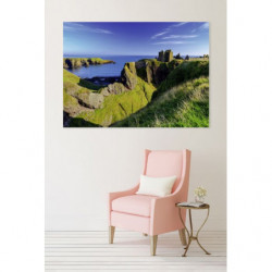 XXL landscape painting cliff in Scotland