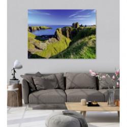 Cuadro de paisaje XXL acantilado en Escocia