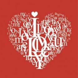 Tableau romantique I love you