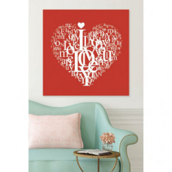Romantic painting I love you
