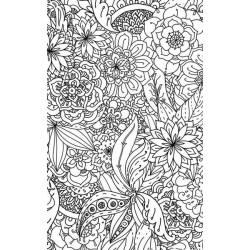 Tenture suspendue à colorier : rosaces et fleurs géantes