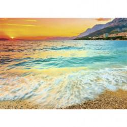 Tableau photo de la mer Adriatique au coucher du soleil