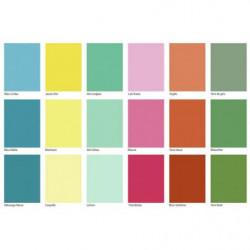 Papier peint panoramique carrés de couleur comme un nuancier