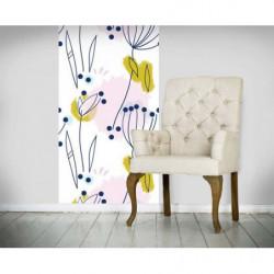 Lé de papier peint motif fleurs design et colorées