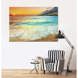 Poster mer Adriatique au coucher du soleil