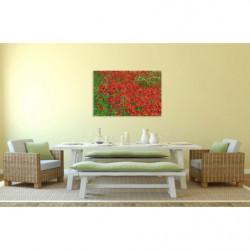Cuadro en lienzo de amapolas rojas