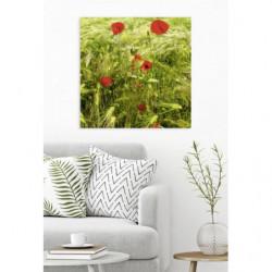 Pintura de naturaleza con flores