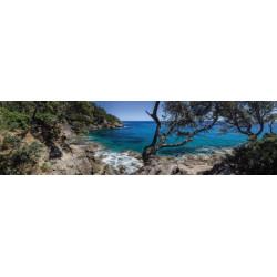 Brise vue paysage de bord de mer escarpé