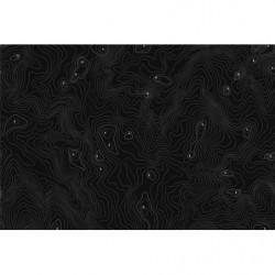 Poster panoramique noir avec courbes de niveau