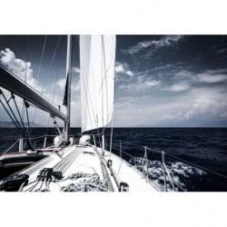 Tableau bateau sur la mer