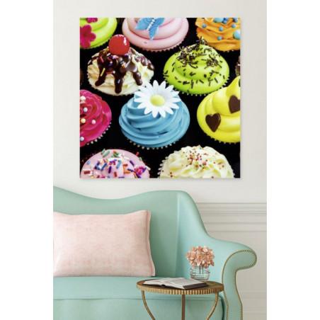 CUP CAKE COLOR canvas print