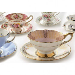 Papier peint original tasses de thé géantes