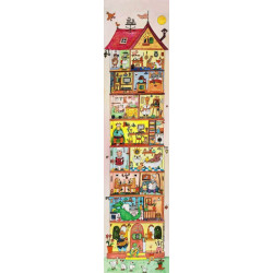 Lé de papier peint pour déco chambre d'enfant dessin d'une maison