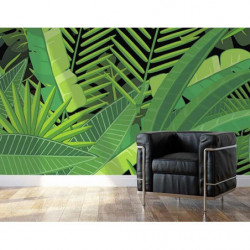 Poster jungle motif géant et vert
