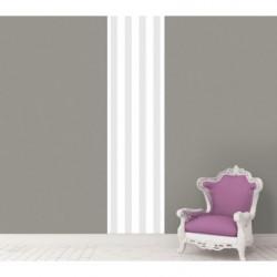Lé de papier peint rayé gris et blanc