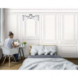 Poster dessin d'un intérieur au style haussmannien