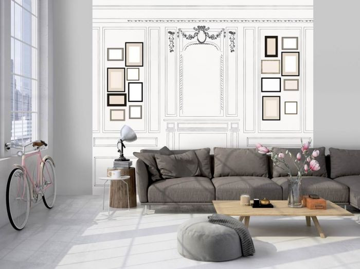 papier peint trompe l 39 oeil tapisserie effet trompe l il scenolia. Black Bedroom Furniture Sets. Home Design Ideas