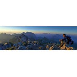 Foto panorámica de la montaña