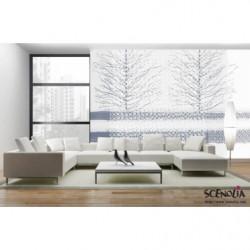 Poster panoramique blanc et dentelle