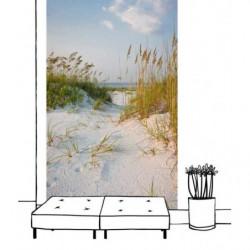 Tenture suspendue plage de l'océan et ses dunes