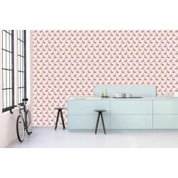 Poster motif flamants roses format panoramique