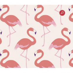 Poster with pink flamingos