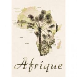 Tableau carte de l'Afrique style vintage