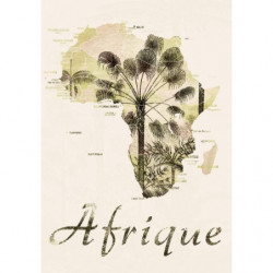 Vintage style map of Africa