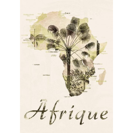 VINTAGE AFRICA canvas print