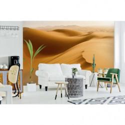 Poster panoramique photo du désert et ses dunes de sable orange