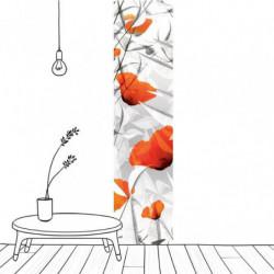 Tenture suspendue coquelicots design