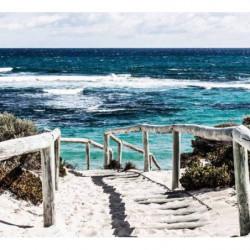 Papier peint trompe l'oeil bord de mer
