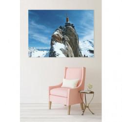Cuadro en lienzo de la montaña nevada Aiguille du Midi