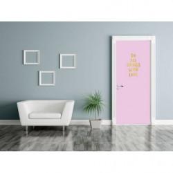 Pink door poster