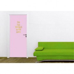 Póster para puerta rosa