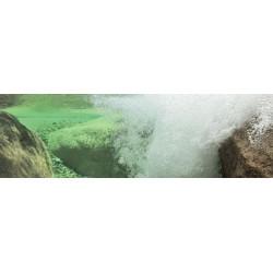 Air bubbles underwater canvas print