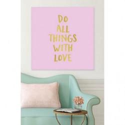 Cuadro en lienzo de proverbios ingleses amor