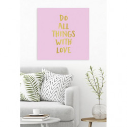 canvas print English proverb love