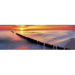 XXL painting sunset on the sea