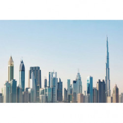 Panoramic poster of Dubai city