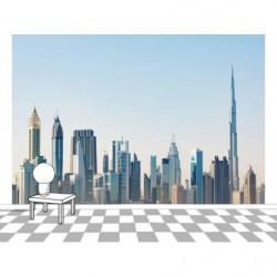 Póster panorámico de la ciudad de Dubai
