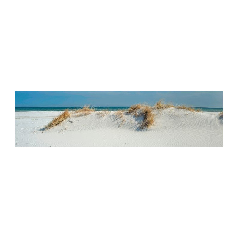 poster mural trompe l 39 oeil bord de mer dune plage et sable fin. Black Bedroom Furniture Sets. Home Design Ideas