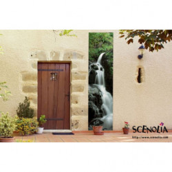 Tenture murale extérieure cascade en eau vive