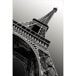 Tenture murale extérieure Tour Eiffel noir et blanc