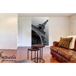 Papier peint mural Tour Eiffel noir et blanc