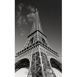 Tenture murale extérieure noir et blanc photo de la Tour Eiffel