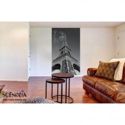 Papier peint Tour Eiffel noir et blanc