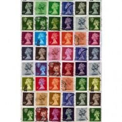 Papier peint timbre Elisabeth d'Angleterre