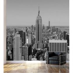 Póster en blanco y negro Edificio Empire State